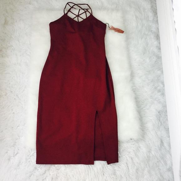 312e922af0a0 HAUTE MONDE Sheath Dress Burgundy Sz M